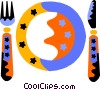 Vector Clipart illustration  of a place setting