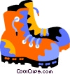 Vector Clip Art image  of a work boots