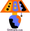 Vector Clip Art graphic  of a lamp