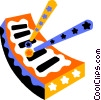 Vector Clipart picture  of a xylophone