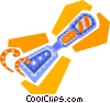 Vector Clip Art image  of a chisel