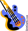 Vector Clip Art graphic  of a guitar