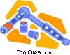 Vector Clip Art graphic  of a ratchet