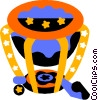 Vector Clip Art image  of a timpani drum