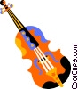 Vector Clipart picture  of a violin