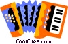 Vector Clipart illustration  of an accordion