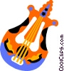 Vector Clip Art picture  of a harp