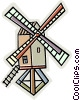 windmill Vector Clipart illustration