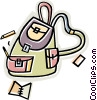 nap sack, school bag Vector Clipart picture