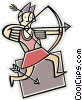 archer Vector Clip Art graphic