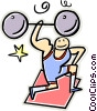 Vector Clipart image  of a weight lifter