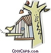 Vector Clipart graphic  of a bird house