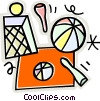 balls and pins Vector Clipart picture