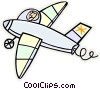 Vector Clipart graphic  of an airplane