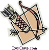 Vector Clip Art graphic  of a bow & arrow