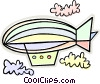 Vector Clip Art graphic  of a blimp