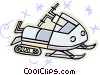 snowmobile Vector Clipart illustration