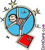 Vector Clip Art graphic  of an acrobat