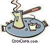 Vector Clipart illustration  of a Chinese tea