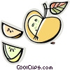 apple wedges Vector Clip Art graphic