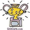 Vector Clip Art image  of a trophy