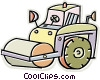 Vector Clipart illustration  of a steamroller