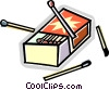 Vector Clip Art image  of a matches
