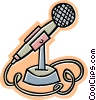 Vector Clipart illustration  of a microphone