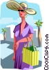 Vector Clip Art image  of a shopping