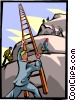 Vector Clipart graphic  of a mountain climber