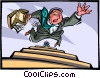 Vector Clip Art graphic  of a Falling down