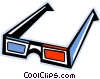 Vector Clipart graphic  of a 3-D eyeglasses