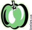 Vector Clip Art graphic  of a green pepper