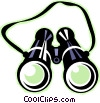 Vector Clip Art graphic  of a binoculars