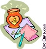 Vector Clipart graphic  of a candle