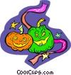 Vector Clipart graphic  of a Halloween pumpkins
