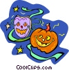 Vector Clip Art graphic  of a Halloween pumpkins