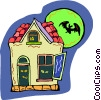 Vector Clip Art image  of a haunted house