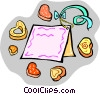 Vector Clip Art image  of a Valentine card