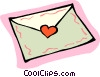 Vector Clip Art picture  of a Valentine card