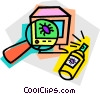 virus, computer bug Vector Clipart illustration
