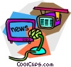 Vector Clipart graphic  of a news broadcast