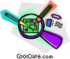magnifying glass Vector Clip Art picture