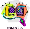 Vector Clip Art image  of a stereo speakers