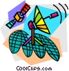 Vector Clip Art graphic  of a telecommunications
