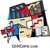 Vector Clip Art graphic  of a stock market