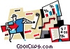business, arrows Vector Clipart picture