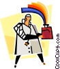 doctor with plasma bottle, the gift of life Vector Clipart image