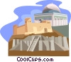 Iraq Ziqqurat Saudi Arabia  Jerusalem Dome of the Rock Vector Clipart illustration