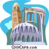 Vector Clip Art graphic  of a Leptis Magna, Konttonbia Mosque minaret